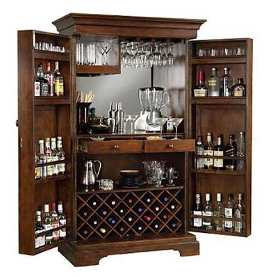 Sonoma Hide-a-Bar Cabinet - The Ultimate In Concealed Bar Cabinets