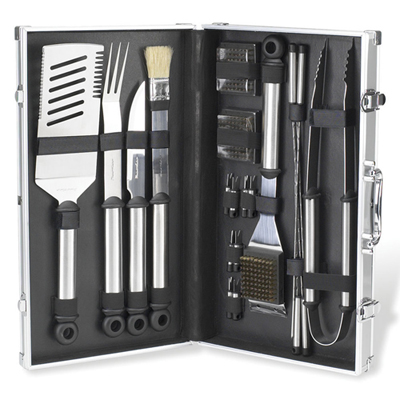 Deluxe 20 Piece Stainless Steel BBQ Set