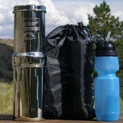 Go Berkey Kit - Portable Water Filter with Sport Bottle and Carrying Case