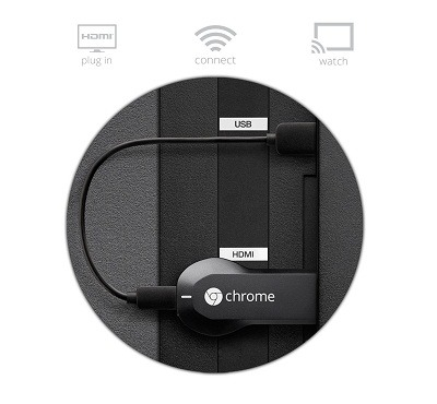 Google Chromecast HDMI Streaming Media Player 2