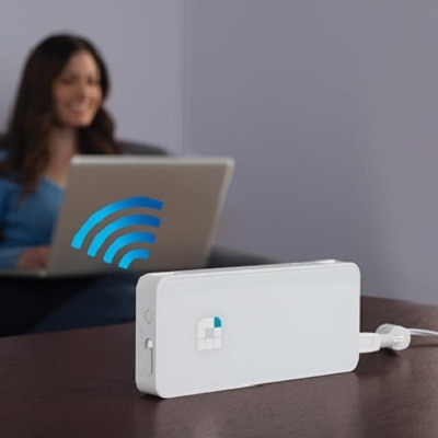 The Portable WiFi Amplifier - improves wifi connection signal and converts wired internet connection into a wireless network easily