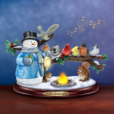 The Thomas Kinkade Winter Glow Snowman - The lighted, musical tabletop snowman inspired by Thomas Kinkade