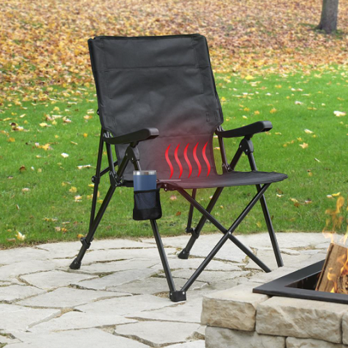 Heated-Outdoor-Folding-Chair