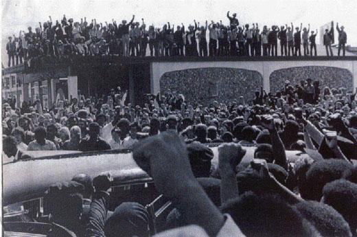 Peoples salute to George Jackson