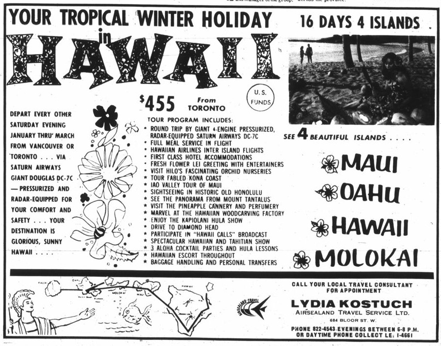 Time Travel Luxury Hawaiian Vacation In 1965 Just 455