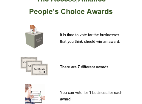 IT'S ACCESSIBLE have been nominated for Access Alliance People's Choice Accessibility Award for Business!