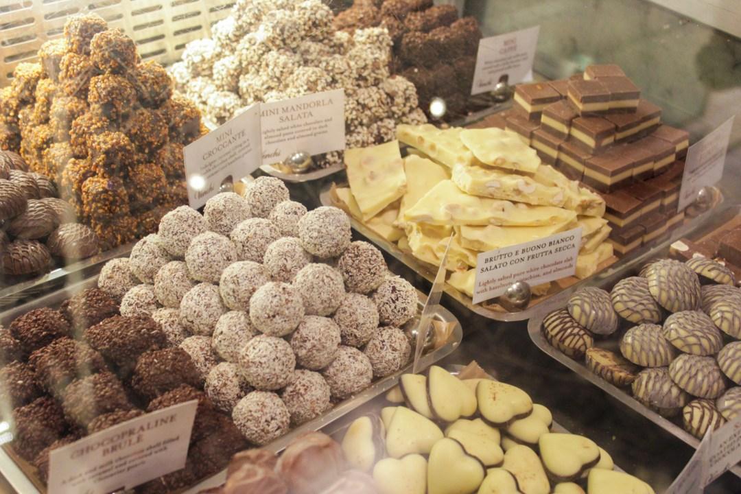 An assortment of Venchi chocolate