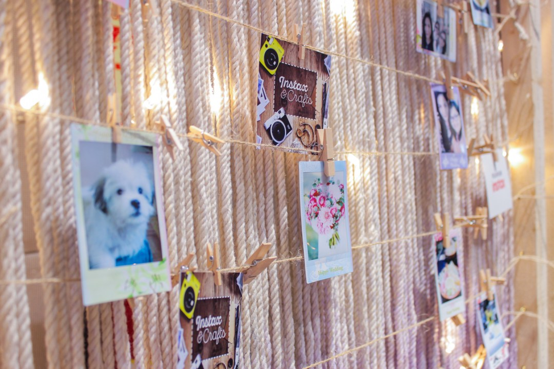 Instax & Crafts photo wall