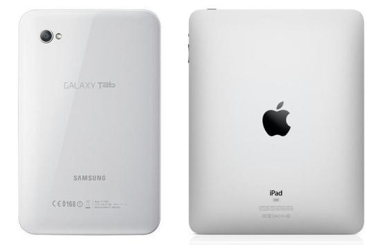Samsung Galaxy Tablet and Apple iPad