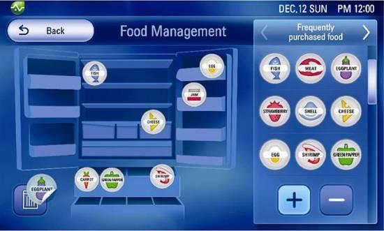 LG Smart Fridge Management Concept