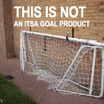 NOT FROM ITSA GOAL products these do not lock& do not fold flat under the crossbar are difficult to store and sides can swing about like a guillotine unlike ITSA GOAL folding goals.
