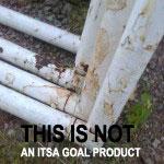 Steel football goalpost