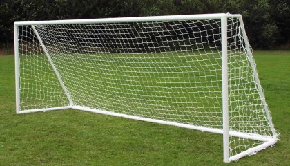 9v9 uPVC goalpost 16′ x 7′ – multi-surface with two section aluminium crossbar