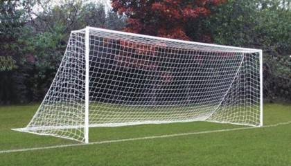 Anti-Vandal Anti-Theft Socketed Steel Goalpost 16'x7′ for 9V9 Games