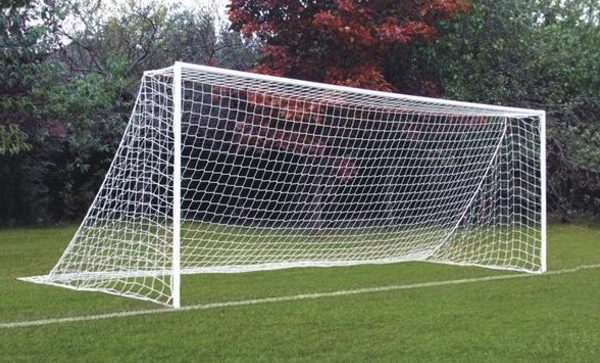 Goalposts Anti-vandal, Anti-theft socketed steel goalpost 16′x 7′ for 9V9 games