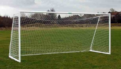 Folding Aluminium Goalpost -16'x7′ Lightweight, Easy to Use & Store