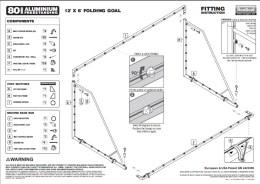12x6 folding goal