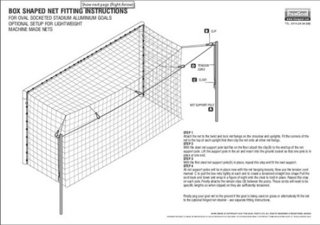 Stadium Goalpost Net Fitting