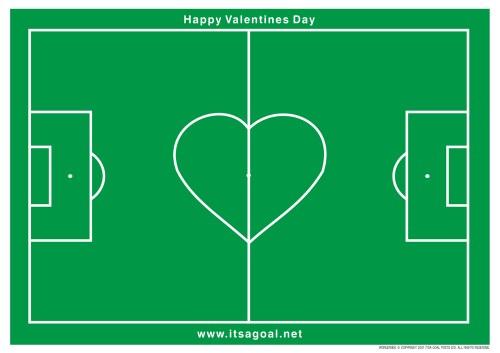 Happy Valentines Day goalposts