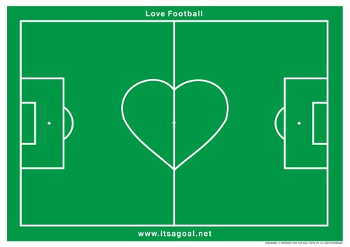 love football pitch goalposts