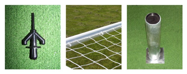 Steel Anti-Vandal 24'x8' - Two Section Crossbar Goal accessories