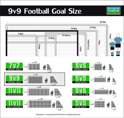 9v9 goal size