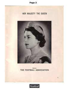 World Cup 1966 Football Programme the queen