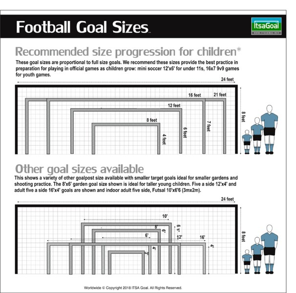 What size football goal should I buy for my garden