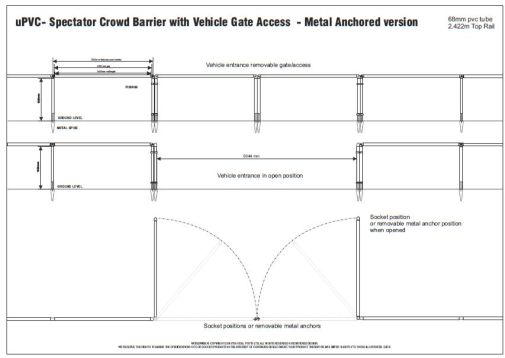 FOOTBALL PITCH BARRIERS