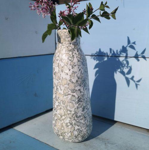 Vaas zilver 26cm Plasticbottle recycle eco fairtrade 132434515801 3