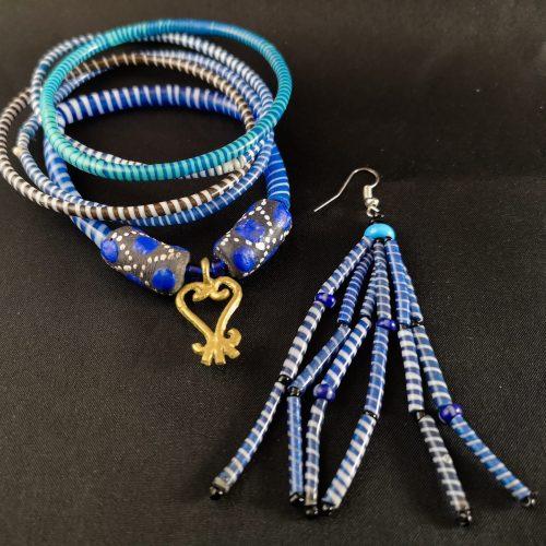 armband blauw recycled plastic duurzaam eco fairtrade teenslippers flipflop 122334485223 2