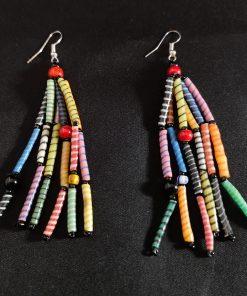 oorbel multicolor recycled plastic duurzaam eco fairtrade teenslippers flipflop 122334475212 2