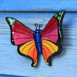 roze vlinder