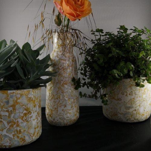 vaas en potten mosterd kinta gerecycled plastic