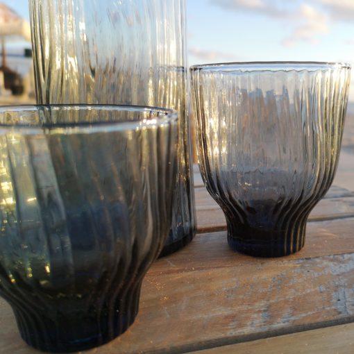 grijs kristallen glazen loodvrij