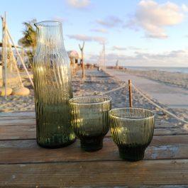 loodvrij groen glaswerk