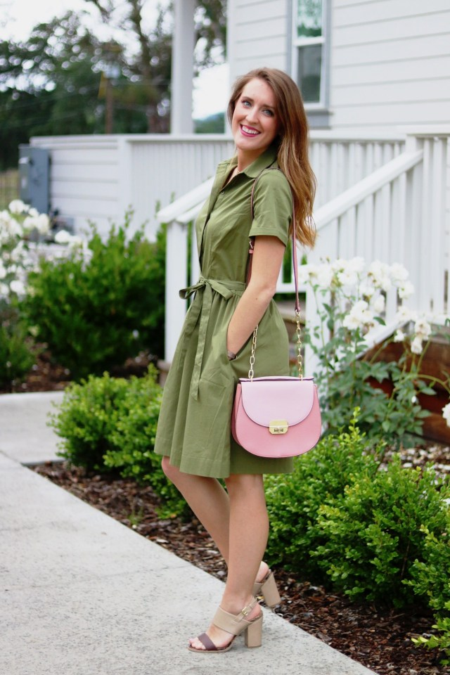 Fall into Spring | Olive Dress | Napa Vineyard | It's All Chic To Me