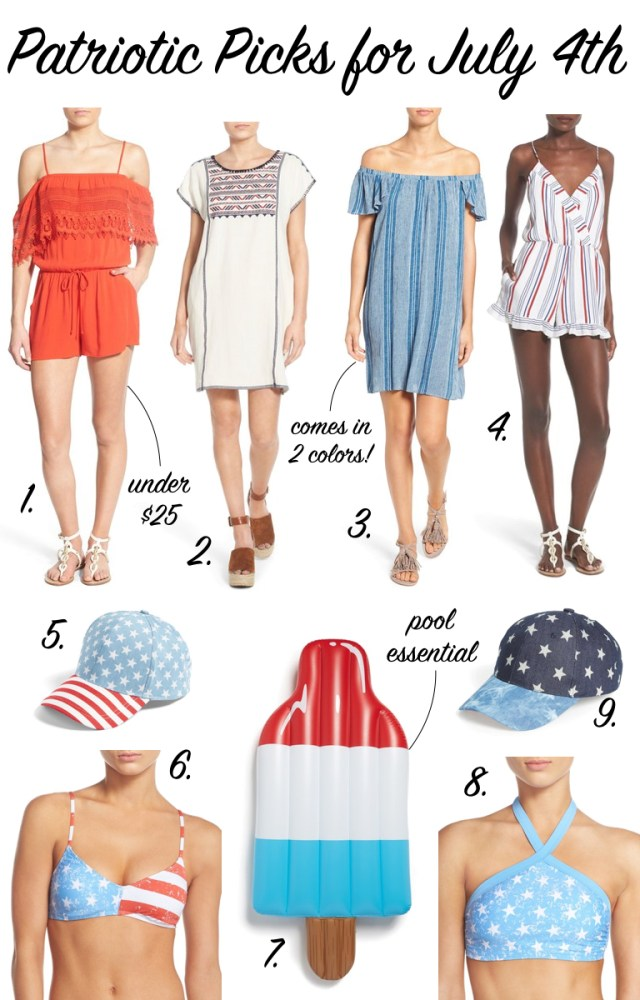 Patriotic Picks | July 4th Outfit | Red, white and Blue inspiration | It's All Chic To Me