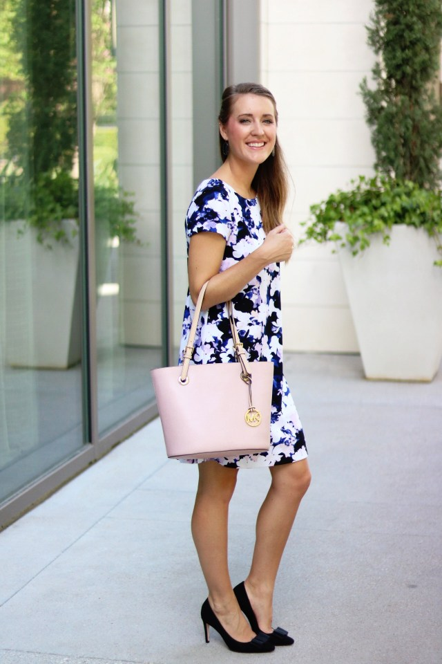 Floral Work Dress + bow heels | How to have a work/life balance | It's All Chic To Me