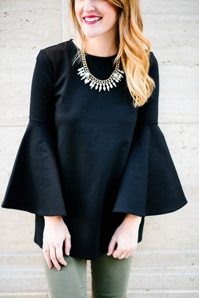 2017 Resolutions/Goals, Bell sleeves + OTK boots, over the knee black boots, trends for 2017