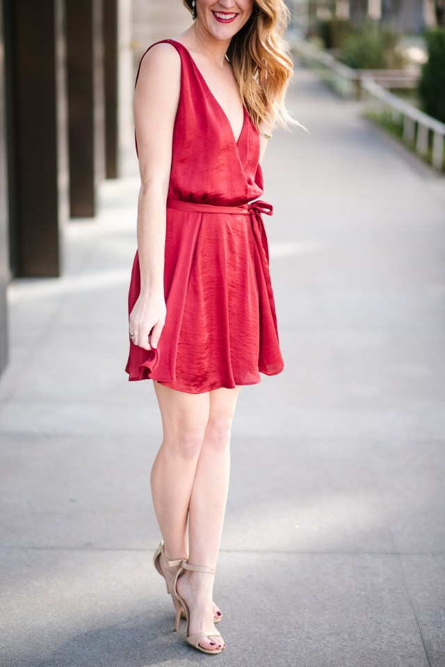 Red Valentine's Day Dress, Fun and flirty Valentine's Day date night dress
