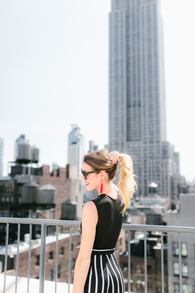 New York Fashion Week street style, NYC rooftop