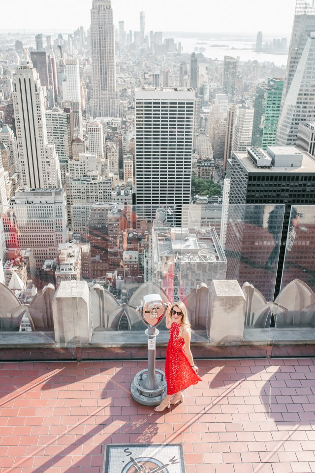 Top of the Rock NYC, Holiday dresses under $100