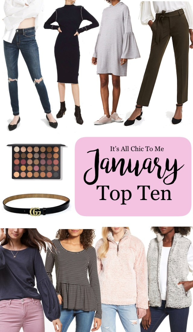 January Top Ten selling items