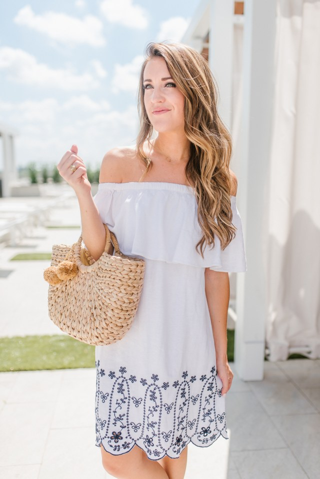 Old Navy White Embroidered Dress