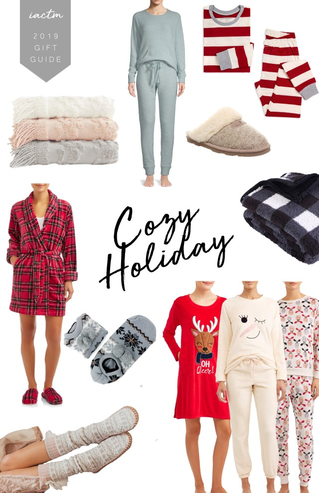 Walmart Holiday Pajamas and Cozy Essentials