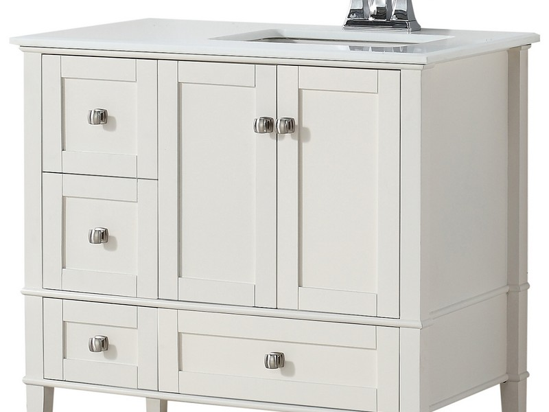 42 inch bathroom vanity with right