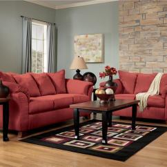 Red Living Room Furniture Sets Grey And Blue Curtains Ashley Home Design Ideas