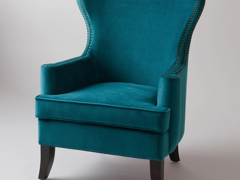 Teal Wingback Chair Slipcover  Home Design Ideas