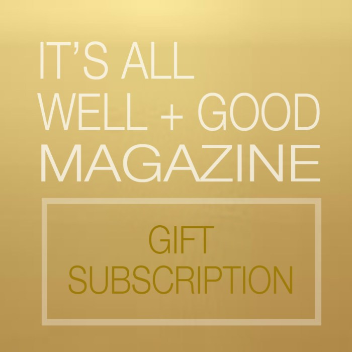 Certificate for Gift Subscription of It's All Well + Good Magazine